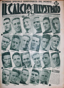 WM 1938 Il Calcio Illustrato Nr.22 vom 01. Juni 1938